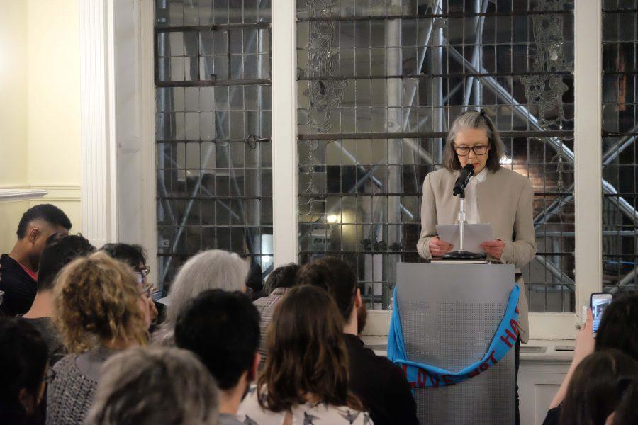 Anne+Carson+spoke+on+Thursday+at+the+Lillian+Vernon+Creative+Writers+House.