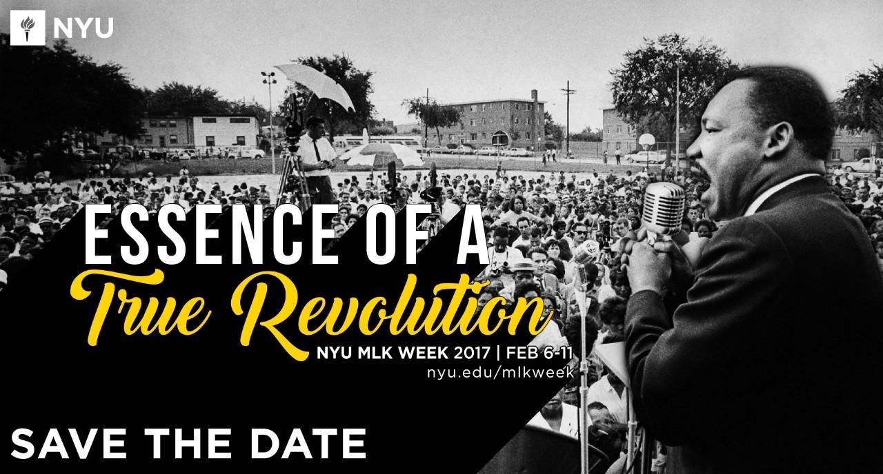 NYU's Martin Luther King week will run from Monday to the 11th.