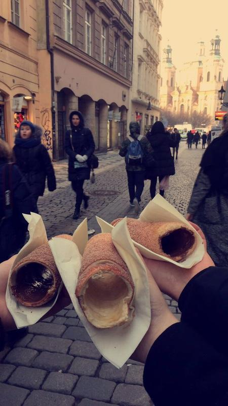 Trdelnik+is+a+popular+pastry+in+Prague+that+originated+in+Slovakia+a+few+years+ago.+The+confection+%E2%80%94+rolled+dough+topped+with+cinnamon%2C+sugar+and+walnuts+%E2%80%94+has+become+quite+popular+among+tourists+and+comes+with+a+variety+of+fillings.
