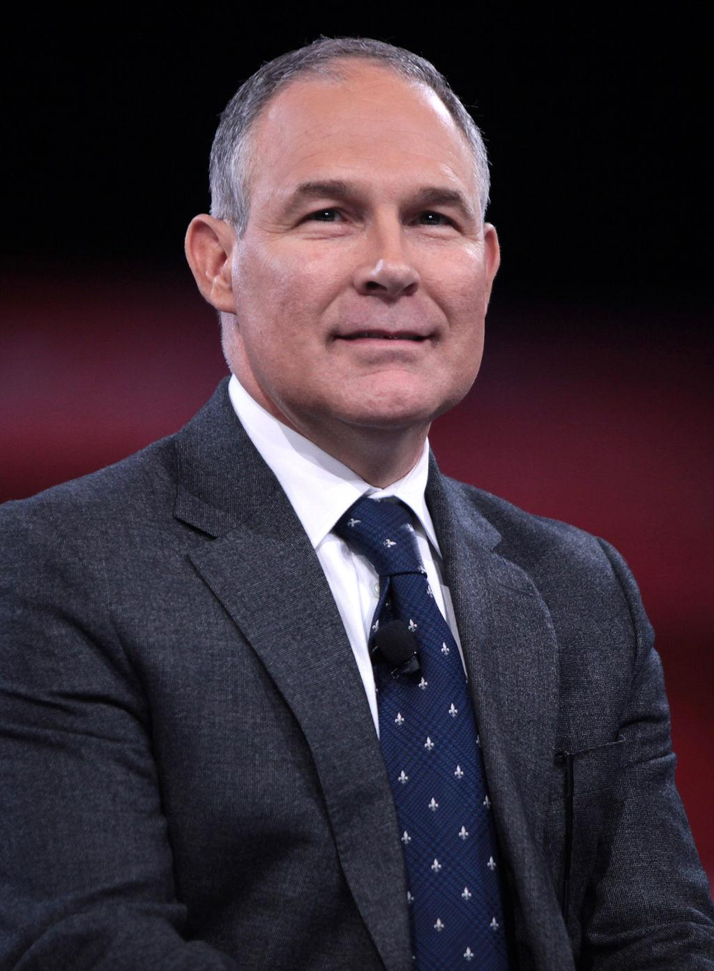 Scott Pruitt, Donald Trump's choice to head the Environmental Protection Agency. Pruitt has faced criticism from the left for his skeptical outlook on climate change.