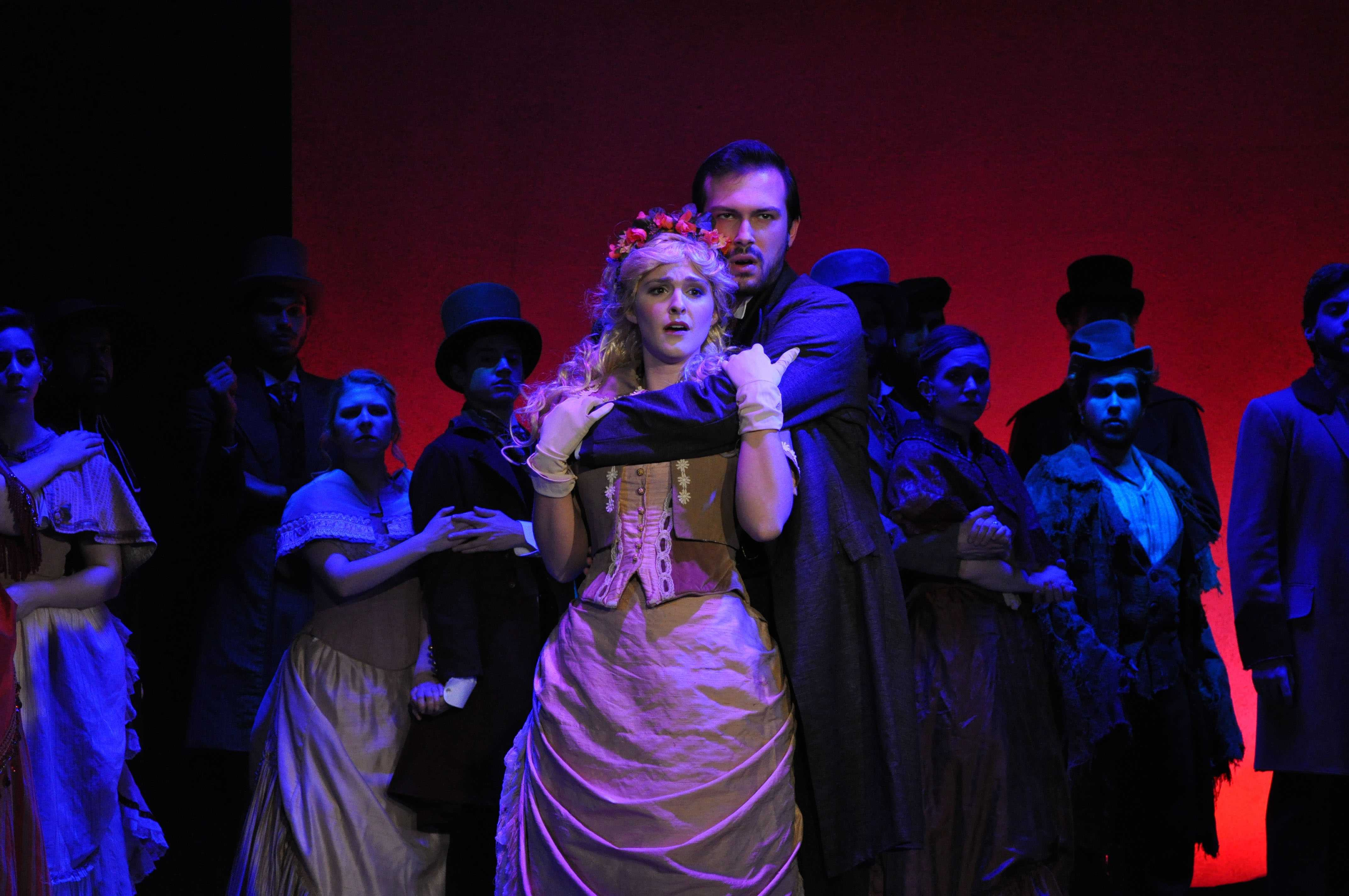 "Stephen Heller and Stephanie Bacastow fronted the Steinhardt Vocal Performance department's ""The Mystery of Edwin Drood,"" as John Jasper and Rosa Bud."