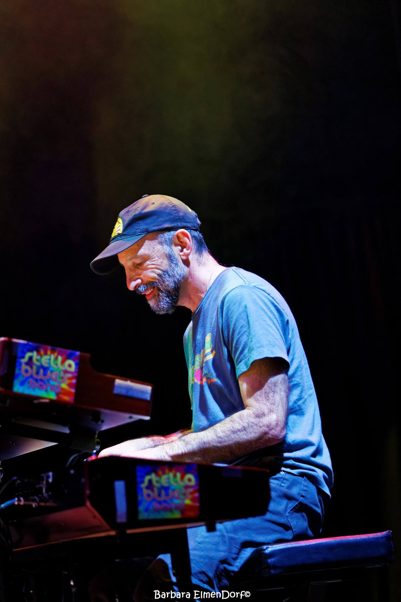 NYU professor Ken Aigen plays the keyboard with his Grateful Dead cover band. Aigen teaches music therapy at the Steinhardt School of Culture, Education and Human Development.