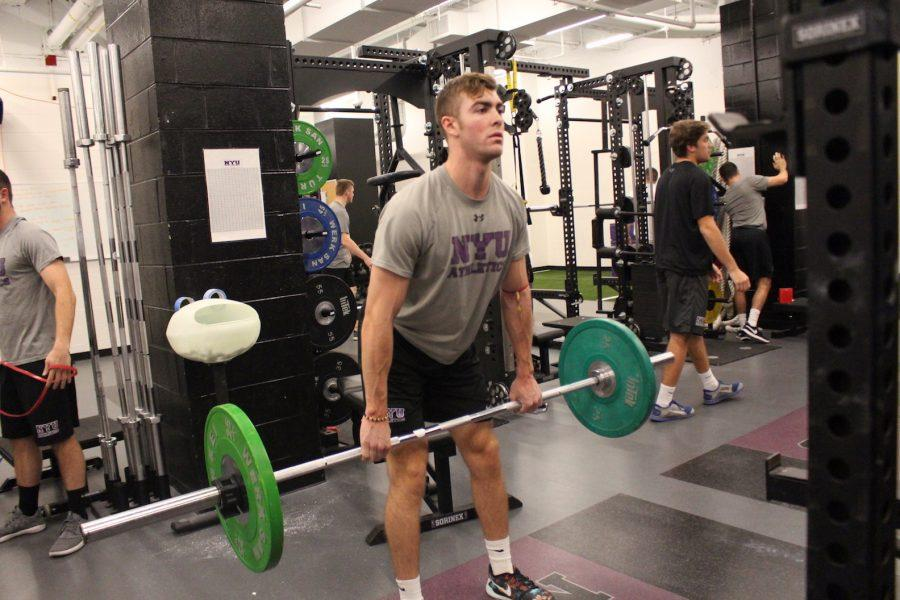 NYU%E2%80%99s+athletic+training+room+is+located+at+the+Palladium+Athletic+Facility+on+14th+street.+The+training+room+provides+treatment+before+and+after+competitions+for+athletes+and+rehab+programs%2C+among+others.