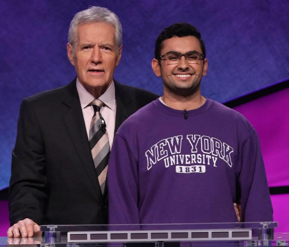 "Stern freshman, Mohan Maholtra, is competing on the ""Jeopardy! College Championship."""