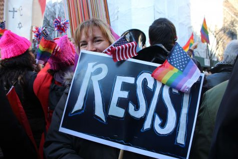LGBT Members and Allies Protest Trump's Cabinet Picks at Stonewall