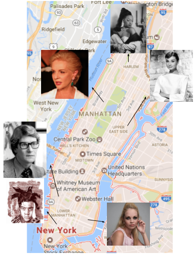 These fashion icons exemplify the various neighborhoods in New York City.