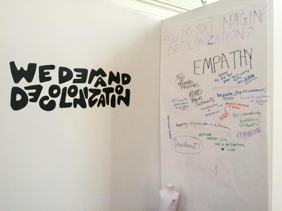 """A new student-run group for people of color called NYU DEPT. is within the NYU Steinhardt Department of Art and Art Professions. The showcase, """"A Call to Action and Solidarity,"""" is open until Mar. 3 at the Commons Gallery in the Barney Building."""