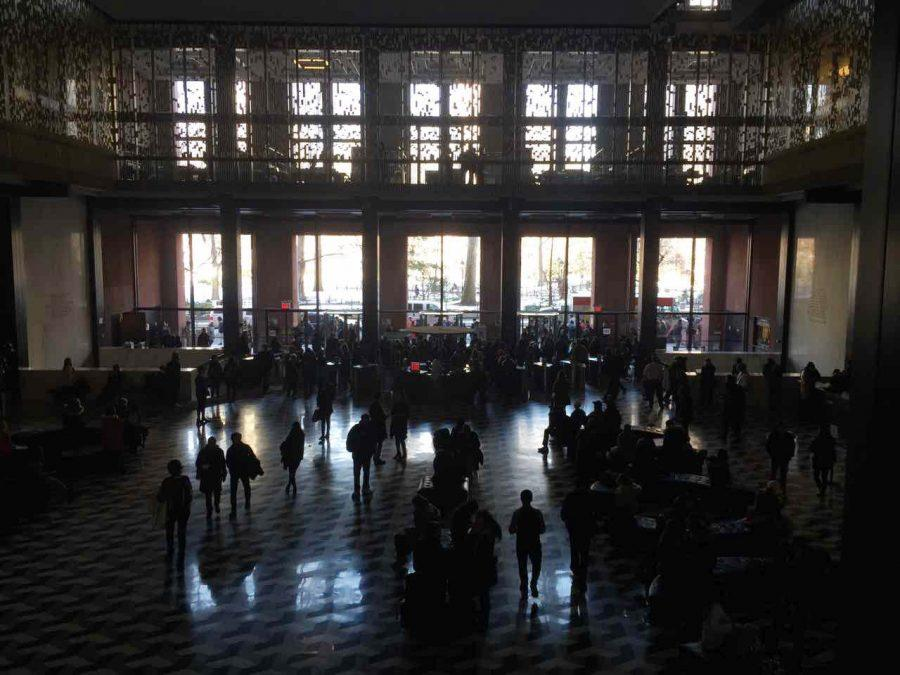 Elmer+Holmes+Bobst+library+in+darkness+following+a+power+outage+on+Tuesday+14th%2C+February+2017.