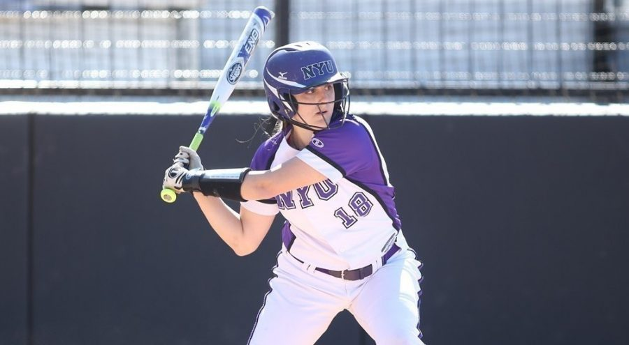 Claire+Stefanelli+scores+a+grand+slam+during+the+opening+game+of+the+NYU+Softball+Team%E2%80%99s+2017+season%2C+March+5.