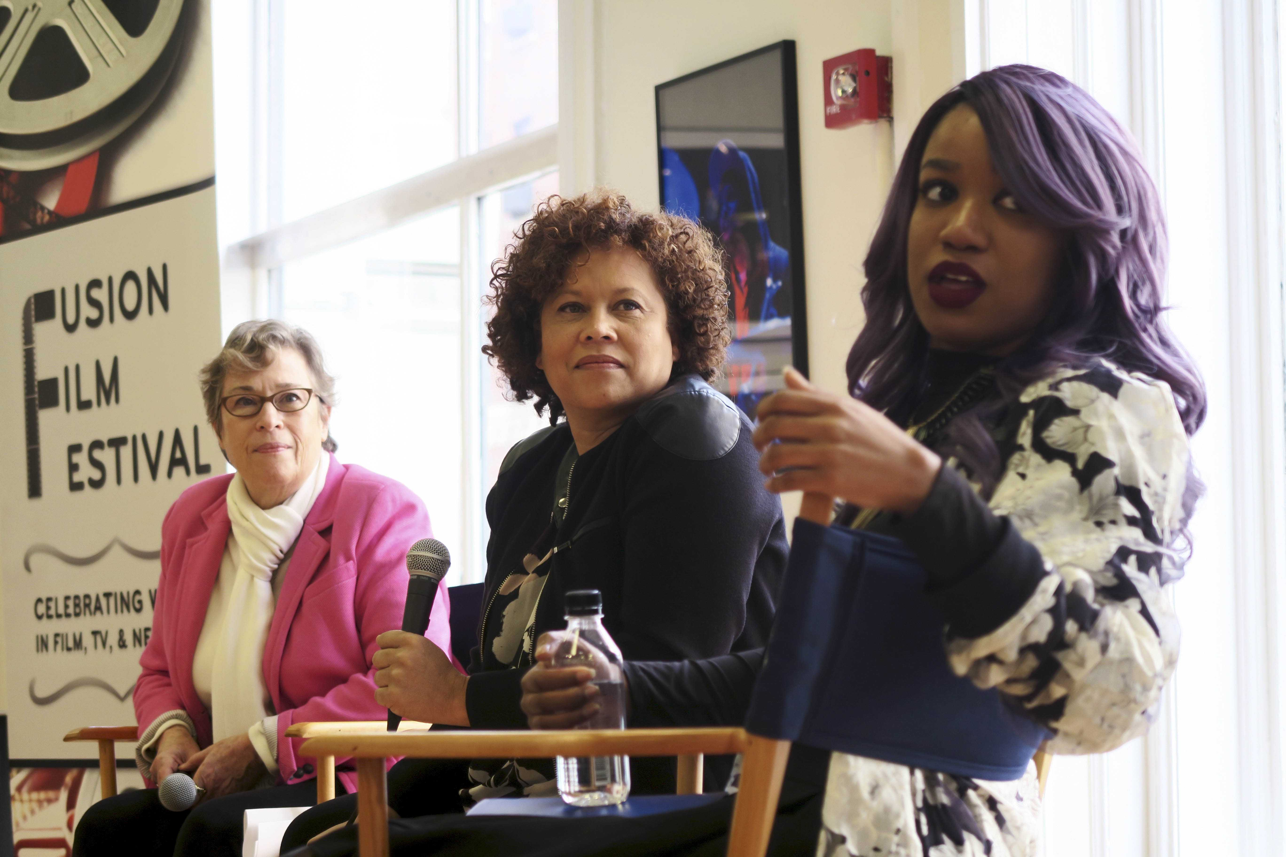 From left to right, Susan Sandler, Kelly Edwards and Vanessa Benton discussed the issues of diversity in the entertainment industry at the Brunch with an Icon event on Saturday.  The brunch was one of the many events hosted by the Fusion Film Festival.