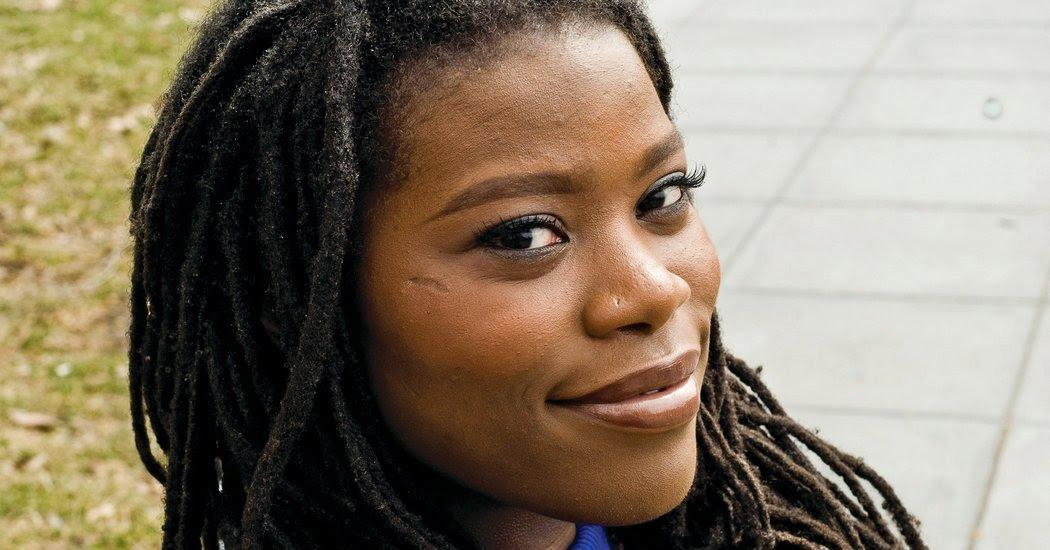 Kaitlyn Greenidge, above, read at the Lillian Vernon Creative Writers House with David Means on March 2. Both writers grapple with uneasy images of America in the debut novels from which they read.