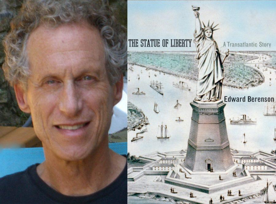 History+Professor%2C+Edward+Berenson%2C+and+his+book+%E2%80%9CThe+Statue+of+Liberty.+A+Transatlantic+Story.%E2%80%9D+Berenson+is+one+of+many+professors+who+set+their+own+work+as+required+reading+for+their+course.