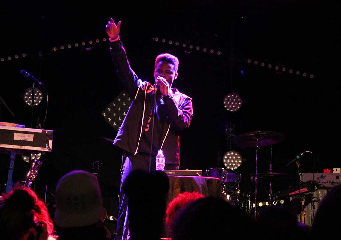 "Hip hop artist Daye Jack performed at Bowery Ballroom on Feb. 27. His new LP ""No Data,"" will be released on March 24."