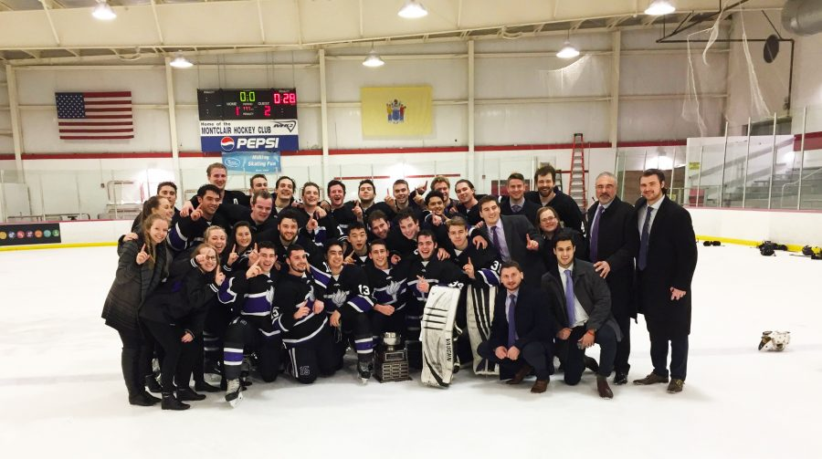 The+NYU+men%E2%80%99s+hockey+team+played+their+last+Division-II+game+on+Sunday+night.+They+ended+the+season+with+a+victory+as+the+American+Collegiate+Hockey+Association+national+champions.