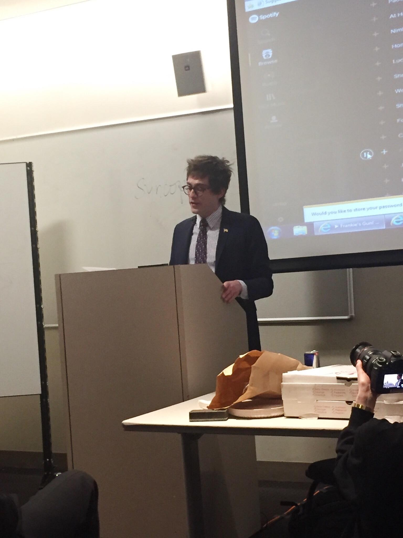 White House correspondent for Gateway Pundit attended the university as a guest speaker for the NYU College Republicans.