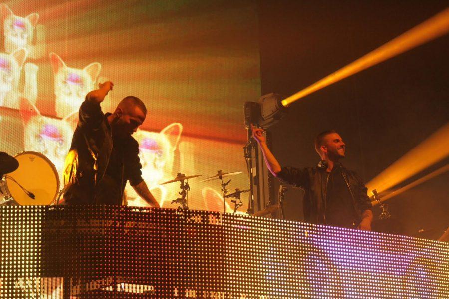 The+Swedish+duo+Galantis+brought+colourful+visuals+and+high+energy+to+their+performance+at+the+Hammerstein+Ballroom%2C+on+April+7.