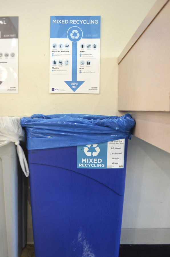 NYU+claims+to+have+a+deep+commitment+to+recycling.+However%2C+janitors+are+often+spotted+dumping+recyclables+and+trash+together.++
