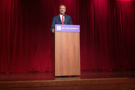 NYU College Democrats Host NYC Mayor Bill de Blasio
