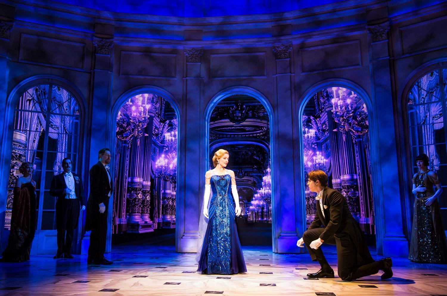 """Christy Altomare as the 18-year-old orphan Anya and Derek Klena as con-man Dmitry star in the musical adaptation of """"Anastasia."""" """"Anastasia"""" is running at the Broadhurst Theatre."""