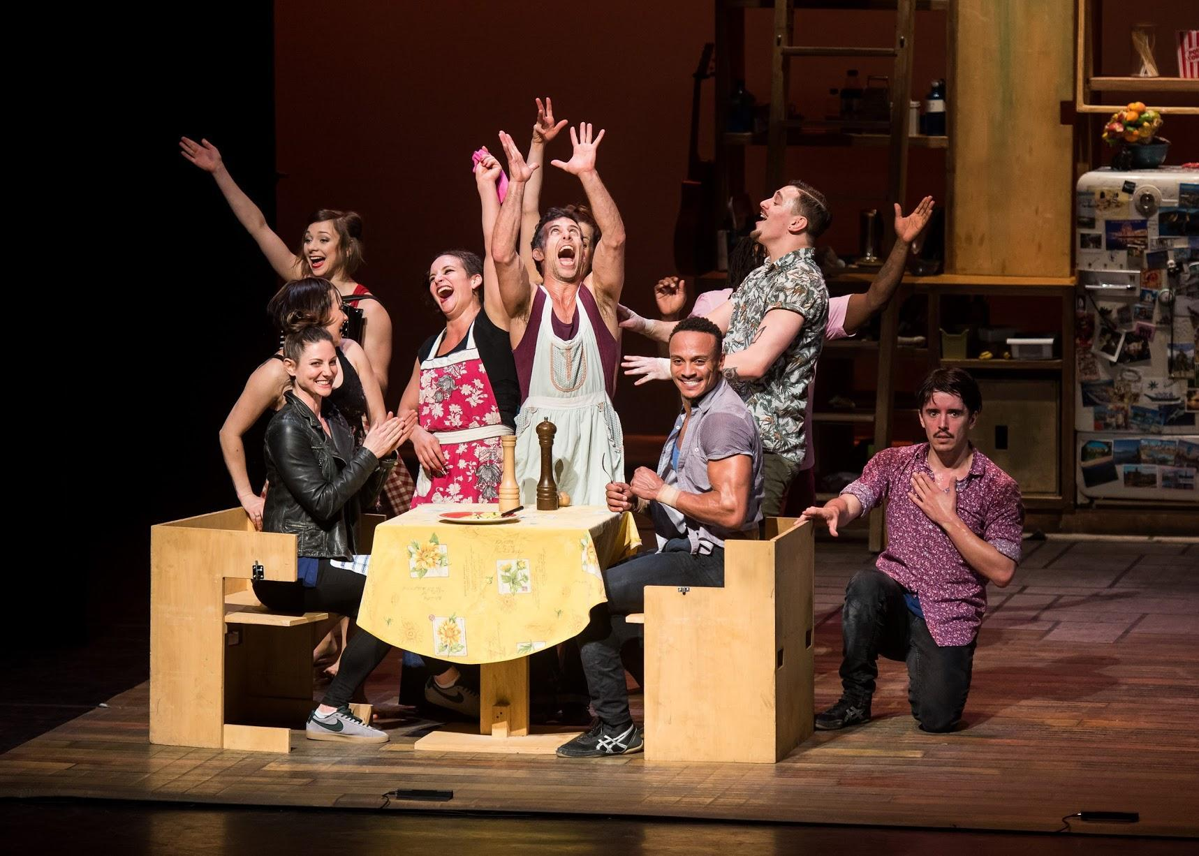 """Les 7 Doigts performed their production, """"Cuisines and Confessions,"""" at NYU's Skirball Center for Performing Arts. The show was a collective, eclectic effort, combining gymnastics, dance and cooking."""