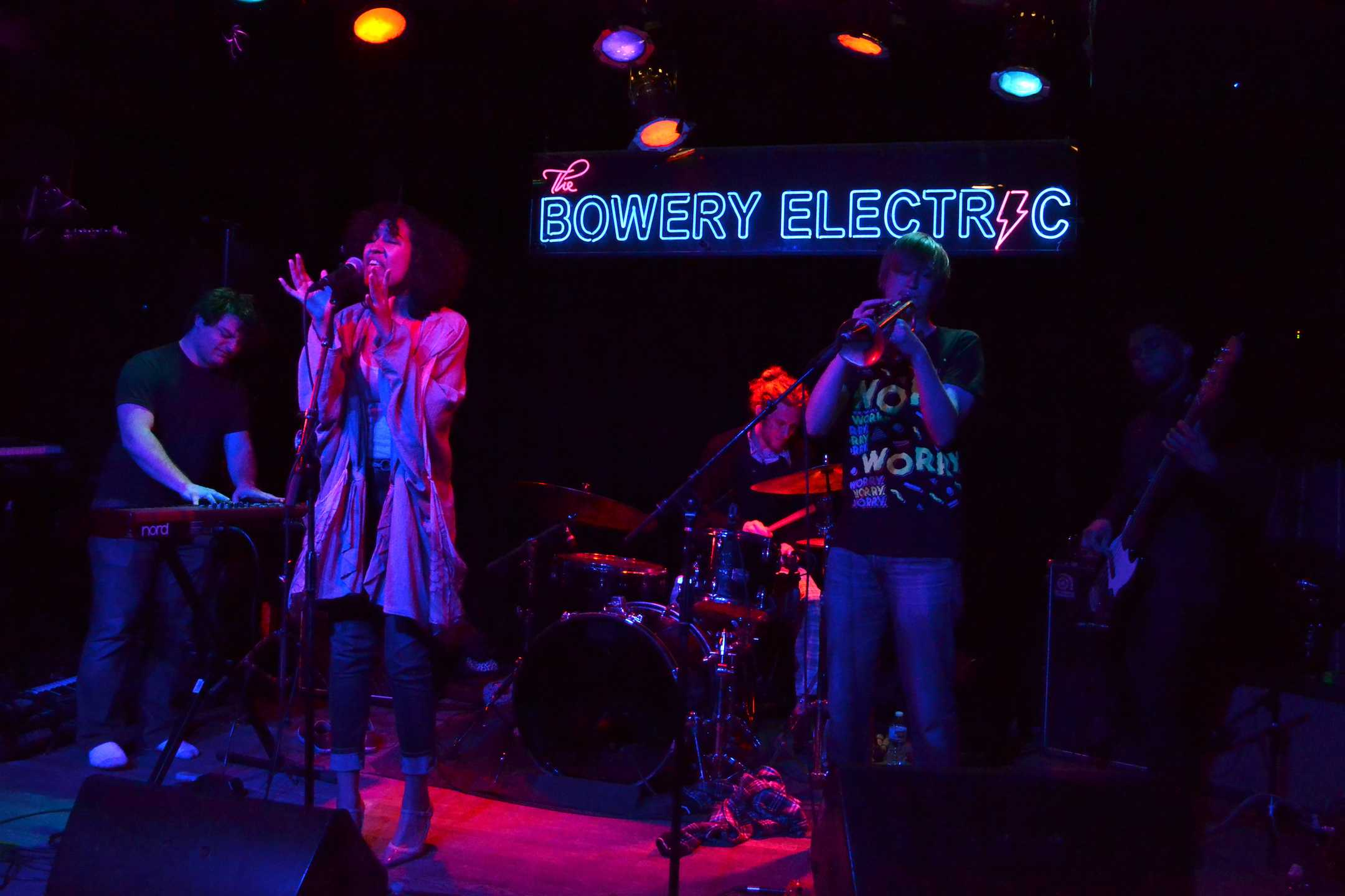 "The group With Snack, along with three other artists from NYU performed at The Bowery Electric this past Thursday for a ""Joint Jams"" showcase on April 20."