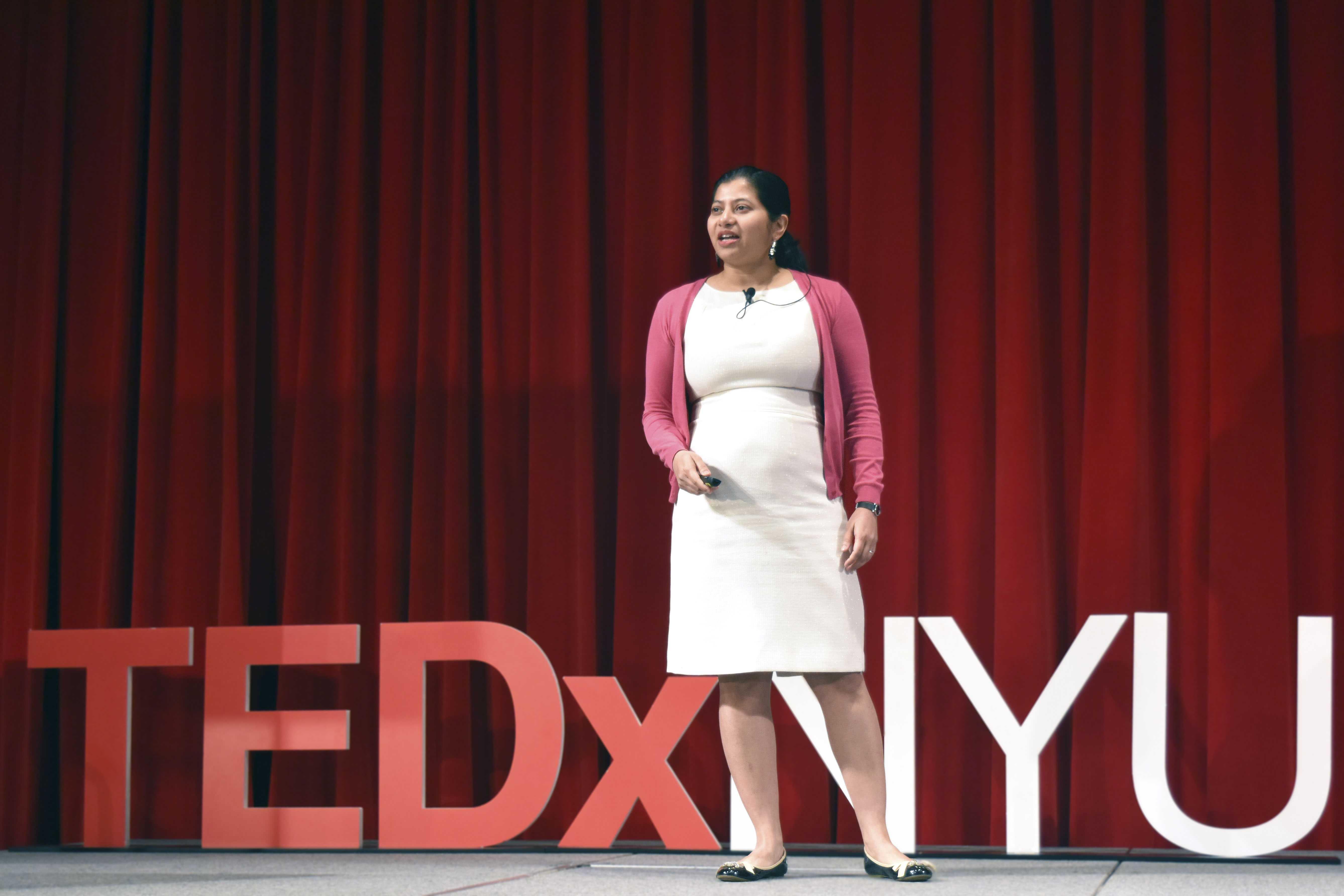 NYU Assistant Professor  Jayeeta Basu spoke about neuroscience at the TEDxNYU conference on April 8.
