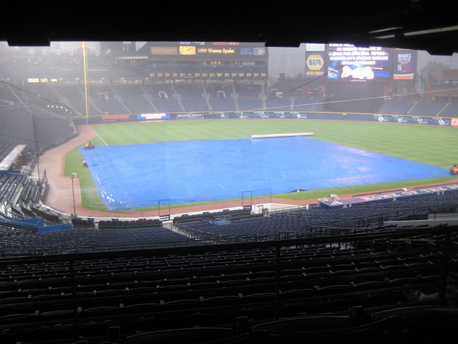 The+Turner+Field+in+Atlanta+faces+a+rain+delay.+Weather+can+deter+a+game+from+effectively+playing+out%3B+in+addition%2C+it+can+affect+how+players+play+the+game.+