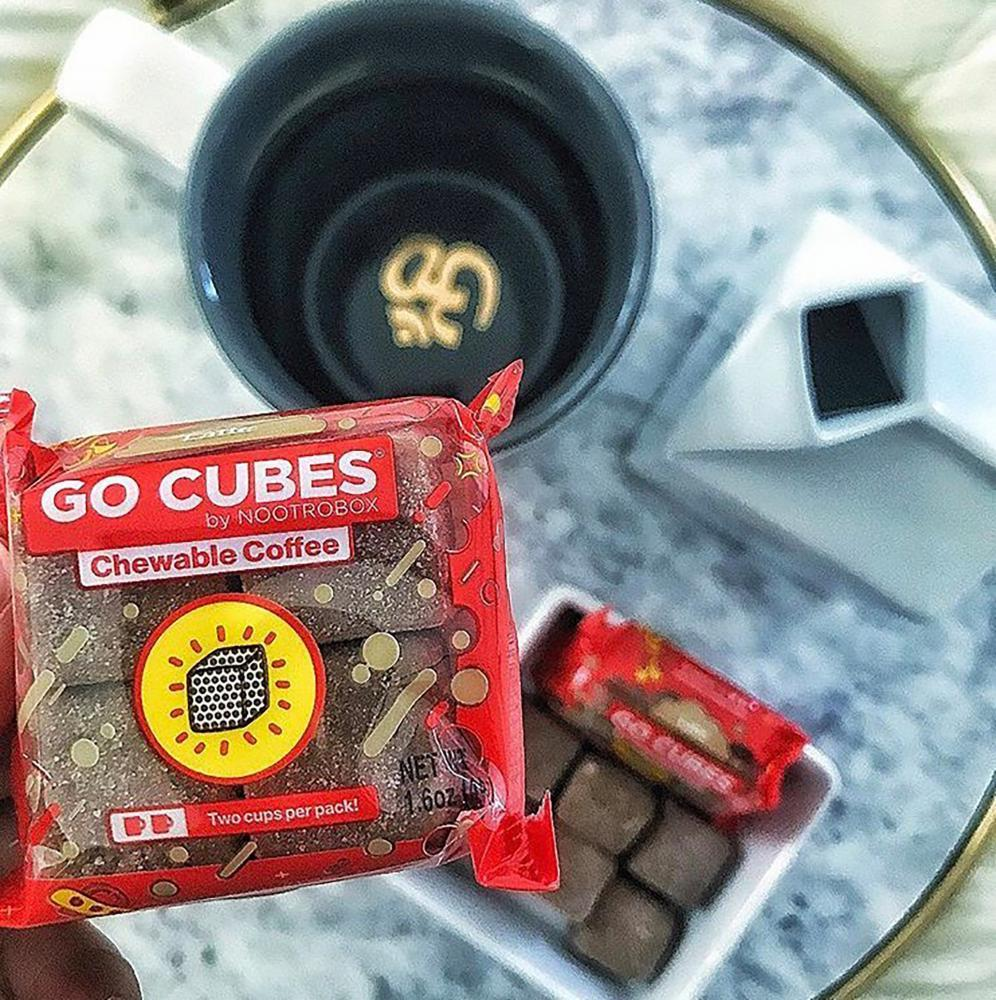 GO CUBES,: a Coffee alternative in gummy form