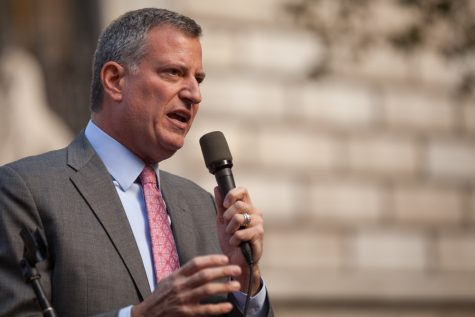 De Blasio Endorses SLAM, Discusses Racist Statues, Does Not Take Questions