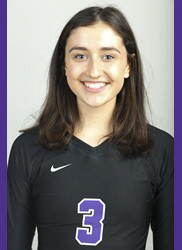 Freshman Kate Glavan Excels in Women's Volleyball