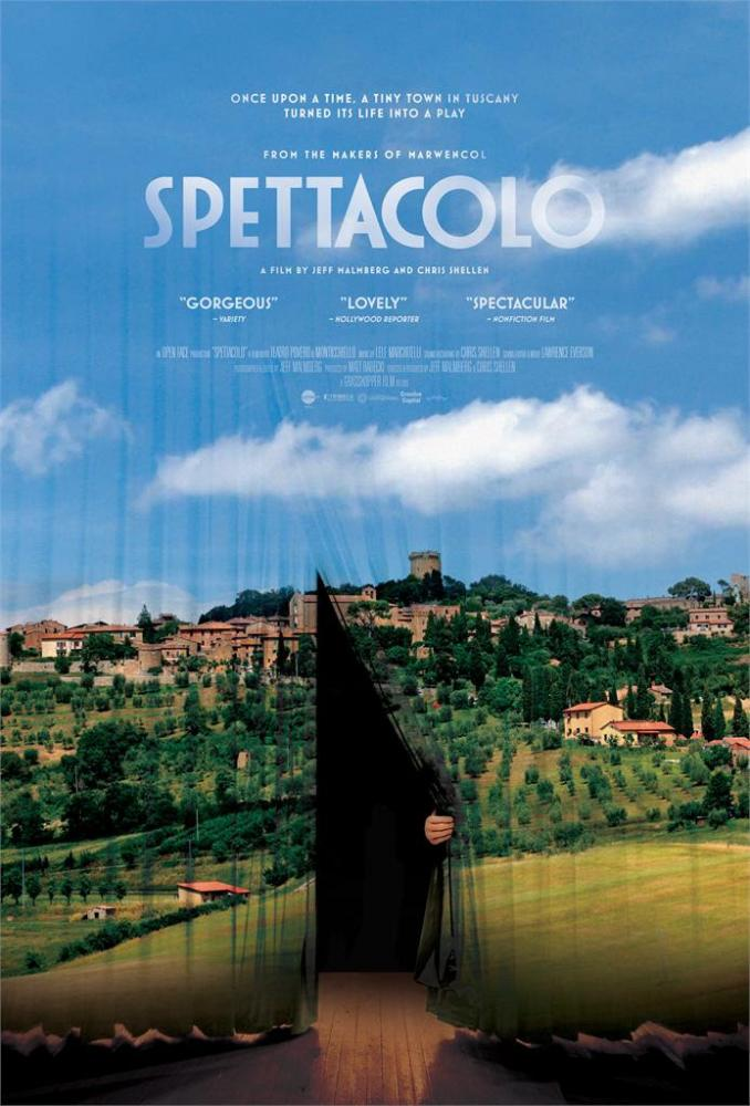 Spettacolo is a documentary film following the lives of villagers whose home has become defined by its iconic style of entertainment.