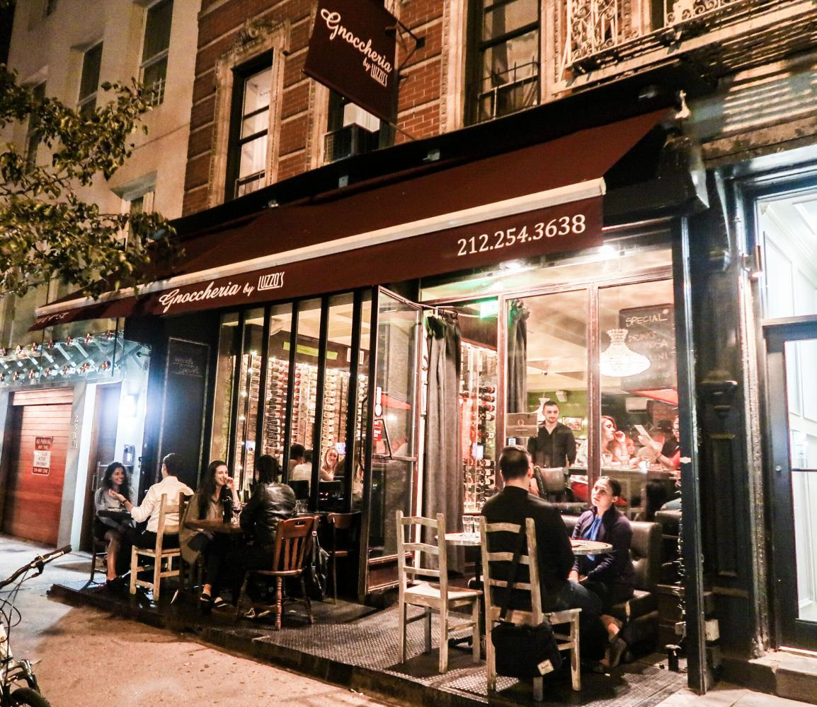 Gnoccheria by Luzzo's is an Italian restaurant in East Village dedicated to serving gnocchi, a potato-based pasta.