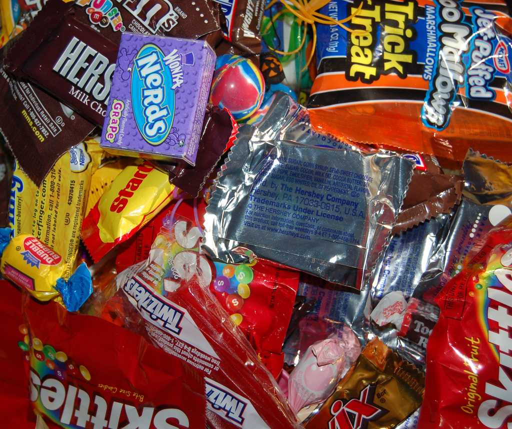 """Candy has substituted potatoes, apples, and nuts as the """"currency"""" of halloween in modern day."""