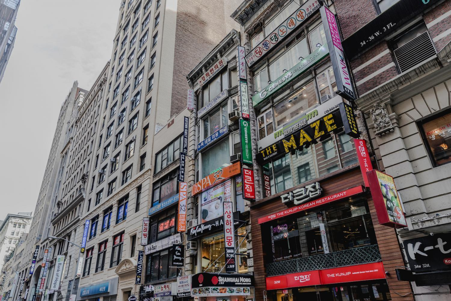 Located in Midtown, Koreatown is only one street on W 32nd St. between 5th and 6th Ave. called Korea Way. You can find anything ranging from half-and-half fried chicken to korean beauty products.