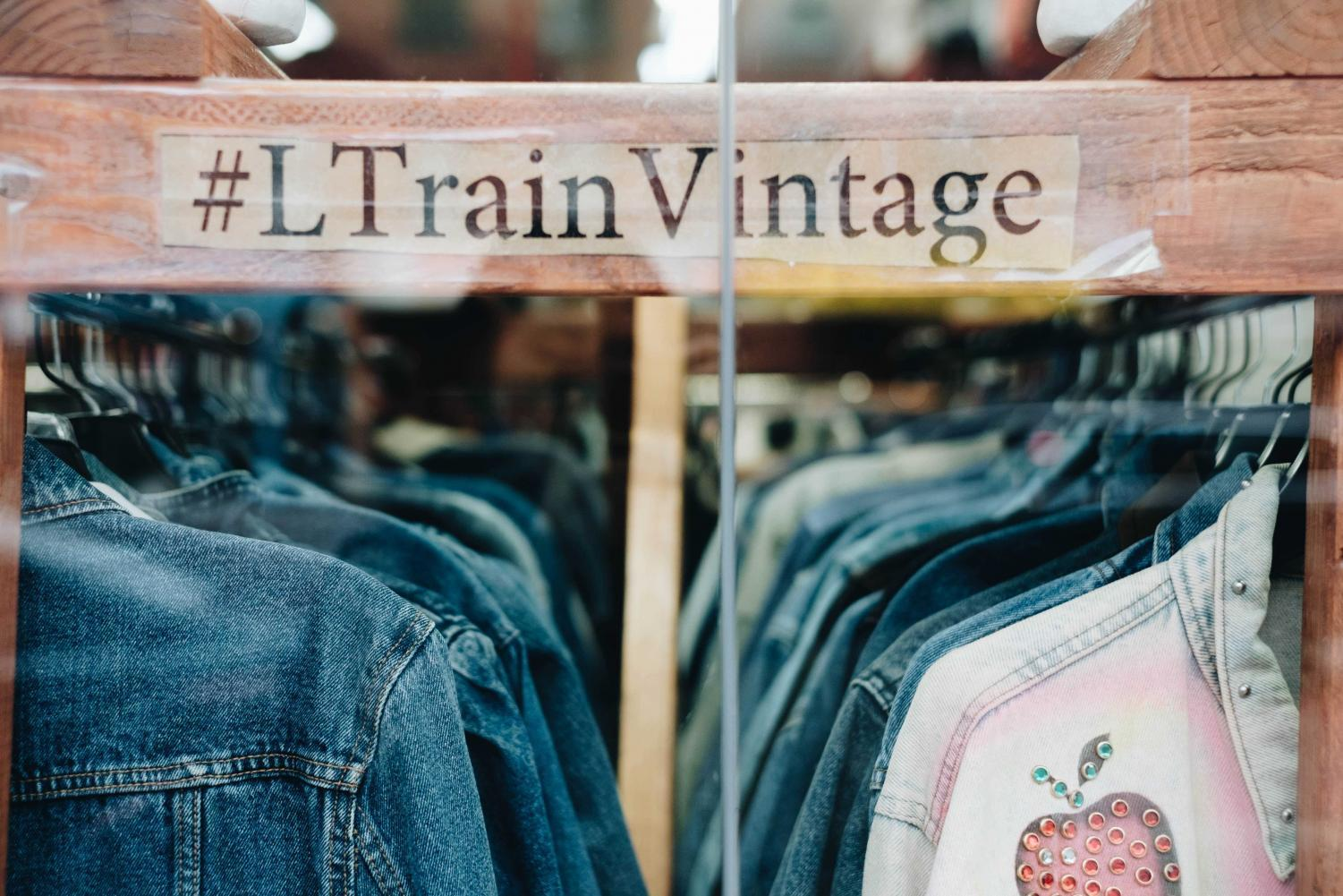 L Train Vintage is a vintage chain store of 6 locations including Williamsburg, East Village, East Williamsburg, West Williamsburg, Bushwick, Gowanus.