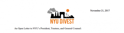 NYU Divest Letter Drop Demands Hamilton and Board Response