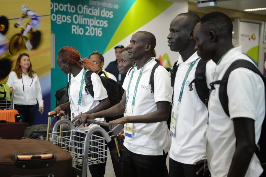 Members+of+the+Refugee+Olympic+Team+in+Rio+before+the+games+began+for+the+Summer+Olympics+in+2016.