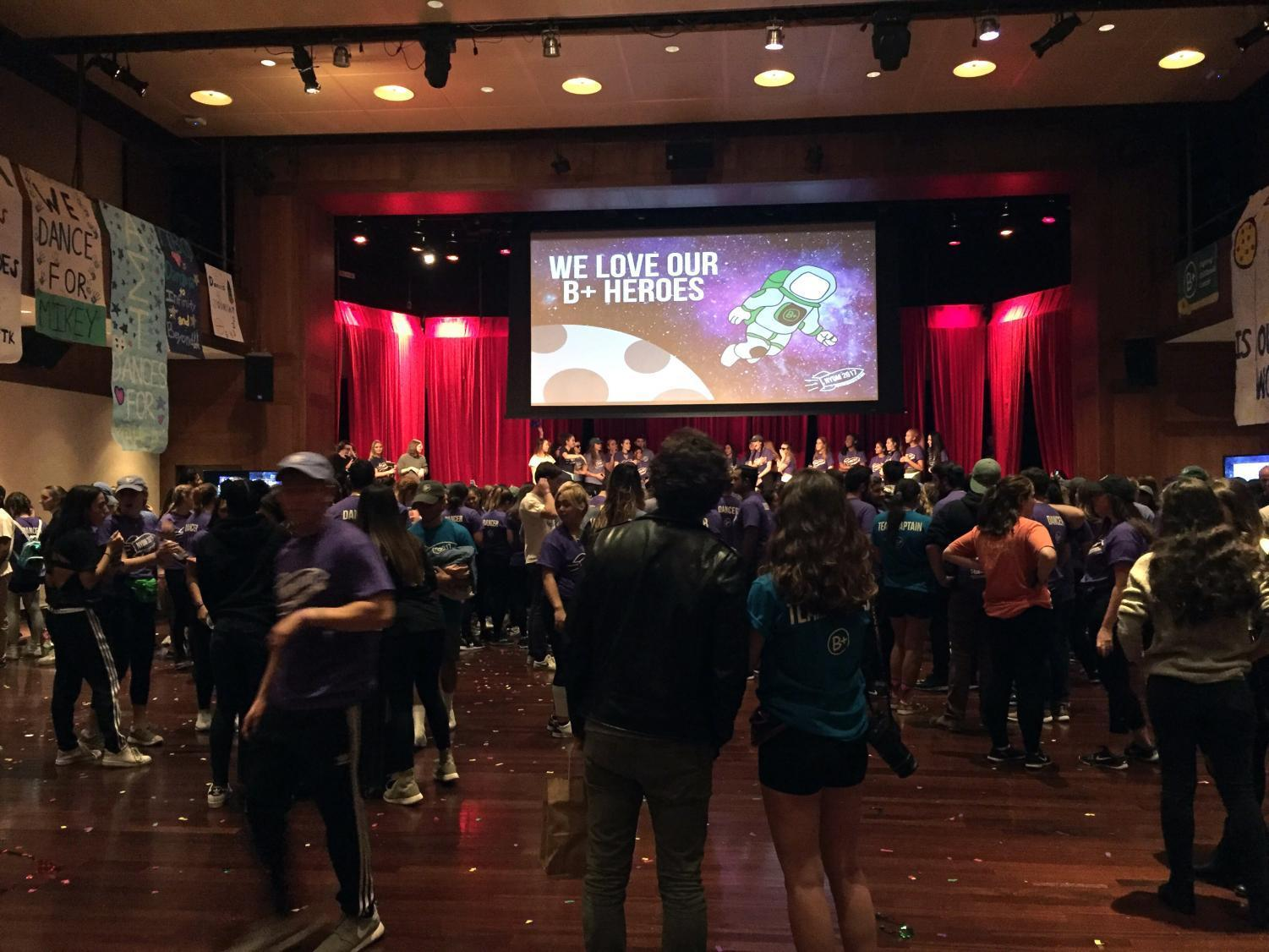 At Kimmel on Nov. 18, students and faculty gathered for the New York Dance Marathon to raise money for Andrew McDonough B+ Foundation.