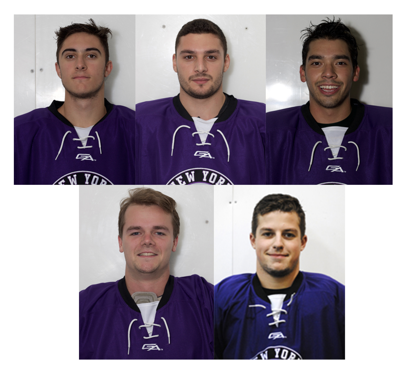 SPS senior Michael Conslato, SPS junior Mason Gallegos, SPS junior John Kowalewski, SPS senior Steven Esposito and SPS sophomore Giancarlo Pochintesta were the five starters for the game on Dec. 1 against Drexel University. Their next game will be on Friday, Dec. 8 against SUNY Stony Brook at Sky Rink at Chelsea Piers.