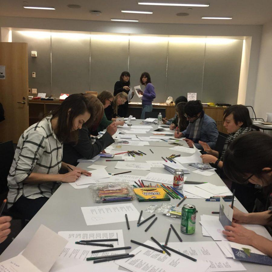 Members+of+the+NYU+community+spent+their+Friday+night+writing+holiday+letters+to+incarcerated+individuals.+%0A