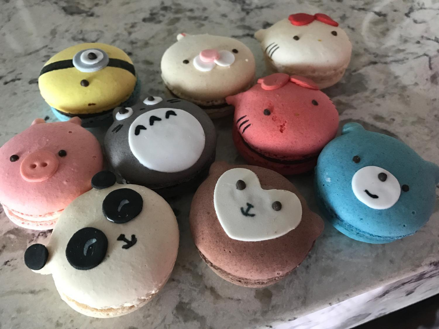 Although these macaroons were cute in presentation, they didn't live up to Feng's culinary expectations.