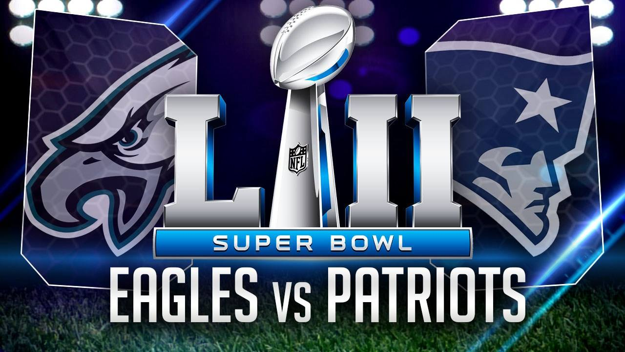 The Philadelphia Eagles and the New England Patriots will compete for the Super Bowl LII championship title on Sunday, Feb. 4.