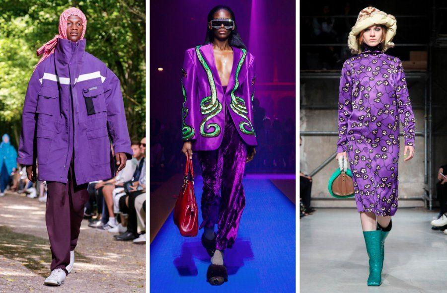 Left+to+right%3A+Balenciaga%2C+Gucci+and+Marni+from+various+2017+shows.+Runways+saw+many+brands+showcasing+Pantone%E2%80%99s+color+of+the+year%2C+ultraviolet+purple.