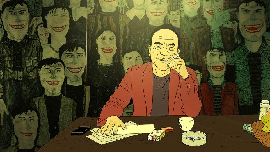 """Have a Nice Day"" is a new animated film by Liu Jian that focuses on the life of a local gang driver Xiao Zhang, voiced by Zhu Changlong. The film is now playing at the Angelika Film Center."