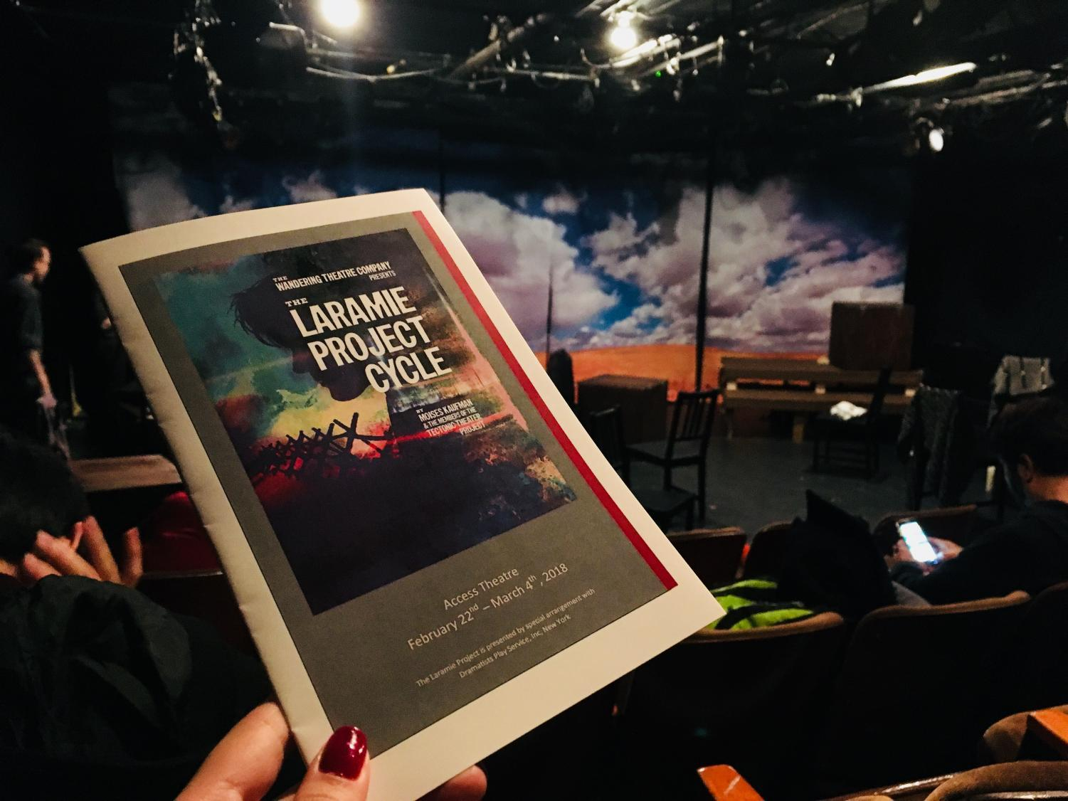 "Playbill for the Wandering Theatre Company's ""The Laramie Project Cycle"""