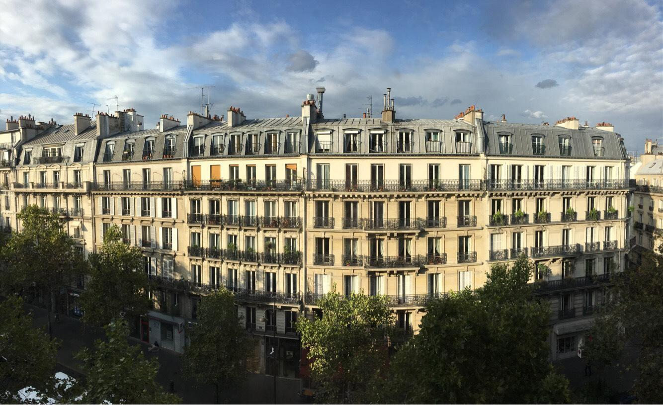 The view from the fifth floor of NYU's academic center in Paris.