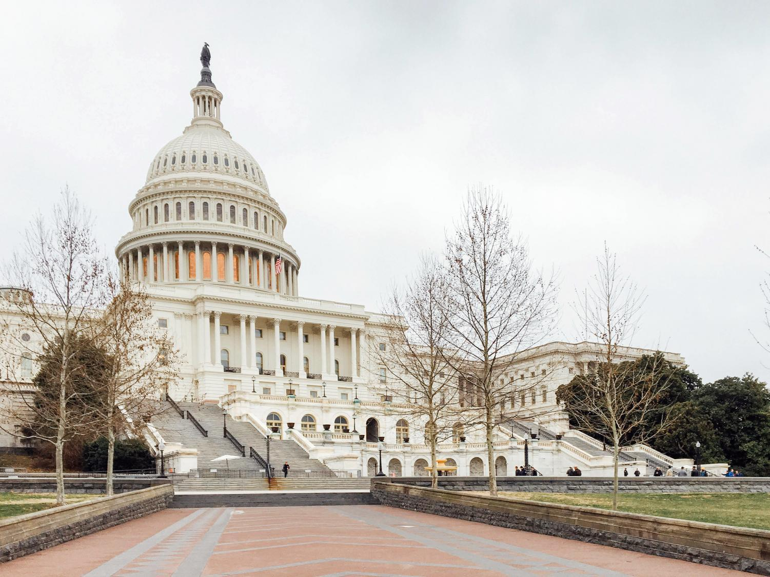 The West Front of the U.S. Capitol during a Friday recess.