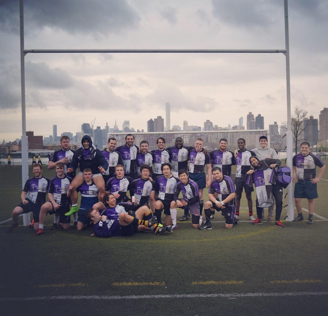The NYU Stern Rugby team for Spring 2017.