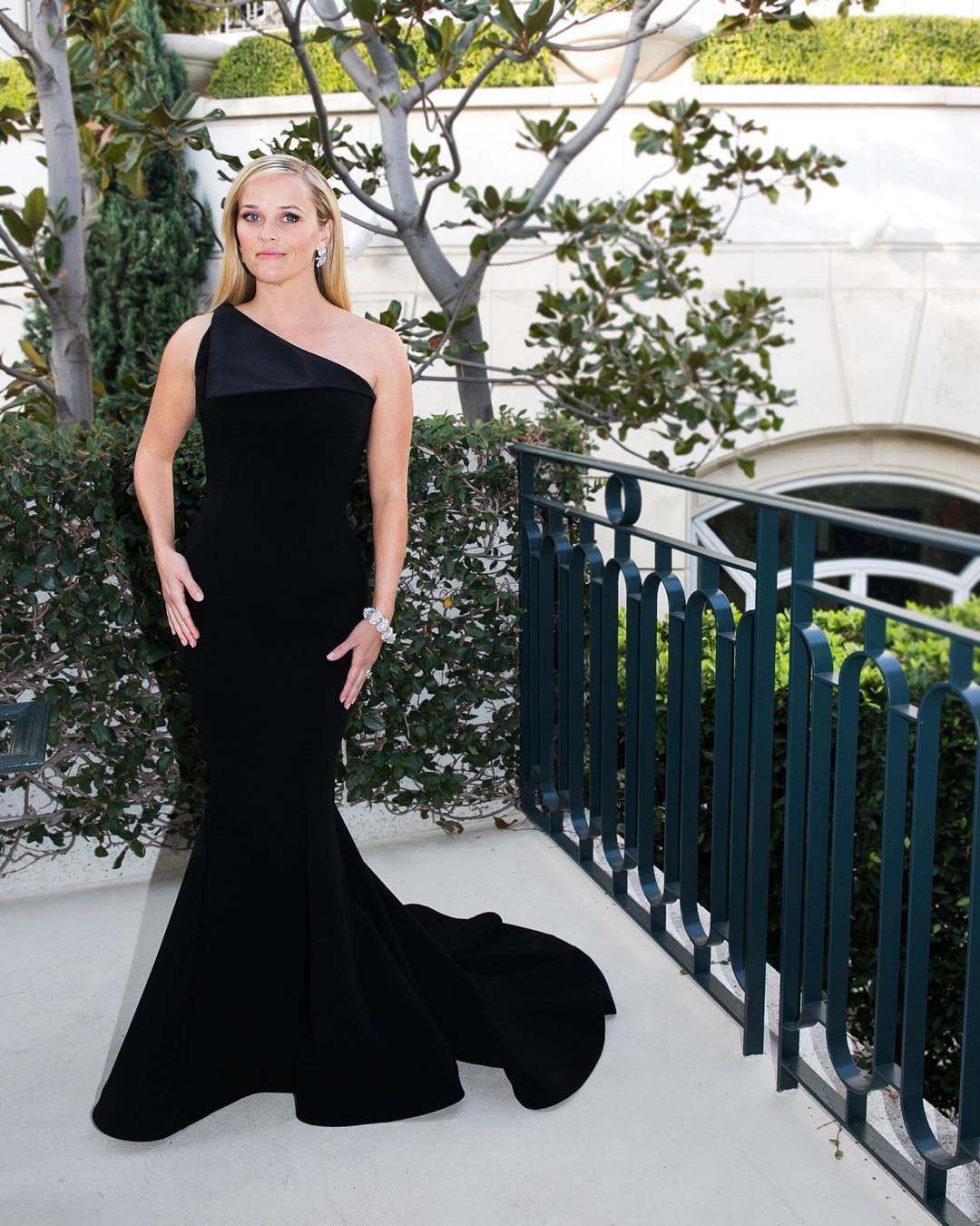Reese Witherspoon was among the many women and men who wore black to the Golden Globes in support of Time's Up.