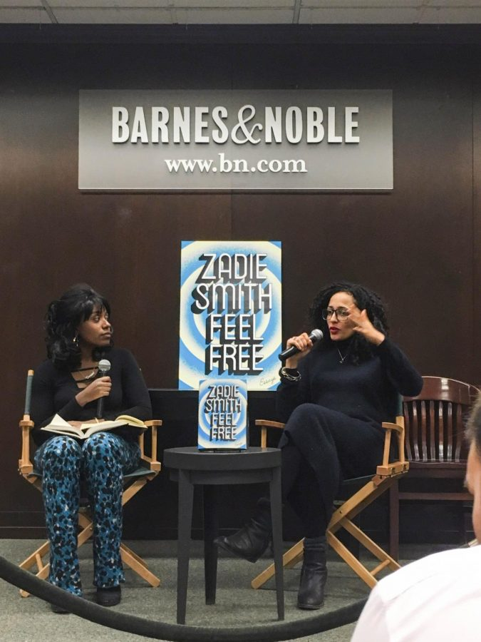 Novelist+Zadie+Smith+being+interviewed+by+New+Yorker+staff+writer+Doreen+St.+F%C3%A9lix+at+the+Barnes+and+Noble+on+82nd+Street+and+Broadway+last+Thursday.